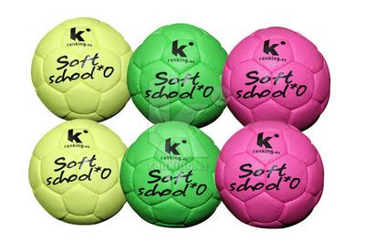 Balon Balonmano Soft School - T 0 Set 6 Uds. - 2 x color