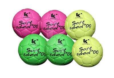 Balon Balonmano Soft School - T 00 Set 6 Uds. - 2 x color