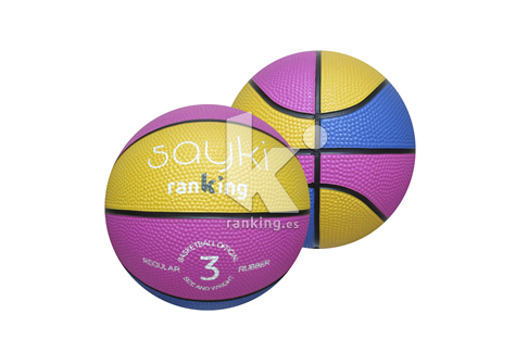 Balon Baloncesto SAYKI caucho regular T-3 Multicolor