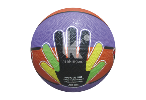 Balon Baloncesto SAYKI caucho regular T-5 Manos