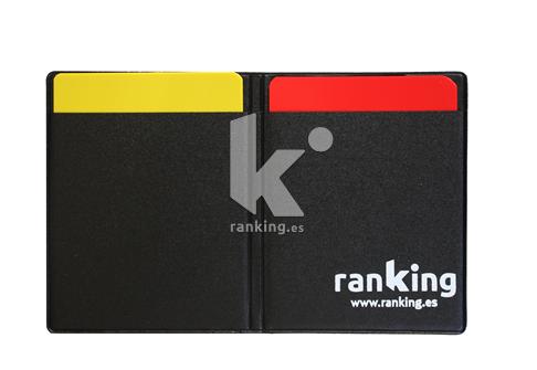 Juego tarjetas Roja y Amarilla, con funda.