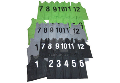 Set 12 Petos Cerrados Calados Numerados AG27