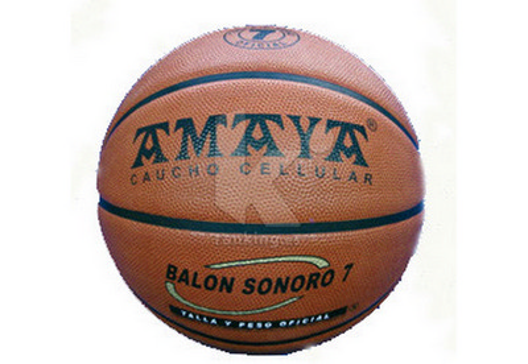 Pelota sonora Basket, caucho celular Ø 240 mm.