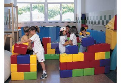 Conjunto bloques de construcción 38 piezas:30x15x20cm + .8 piezas.15x15x20cm