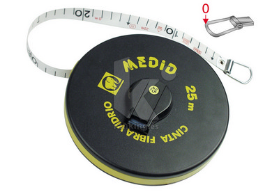 Cinta métrica fibra de vidrio estuche de plastico ABS CF02