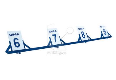 Placas triple salto para indicador en acero - juego 5 uds.