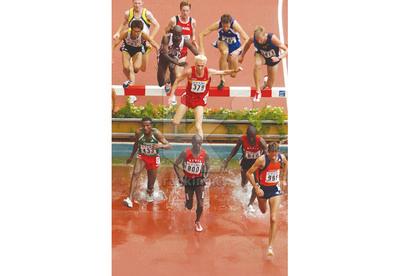 Valla ría regulable para fijar. IAAF