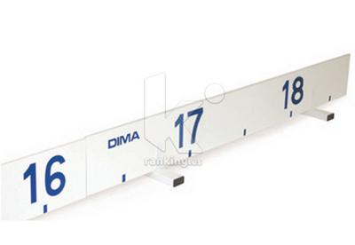 Indicador de referencia salto longitud. PVC blanco