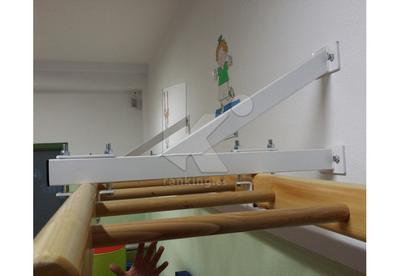 Soporte fijo a pared para escalera Doman School. Juego 2 uds