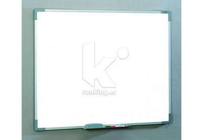 Pizarra melamina blanca. Marco de aluminio. 100x150cm.