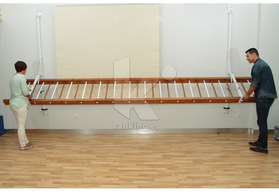 Escalera DOMAN School ® - Pared- Soportes regulables en altura y Plegables
