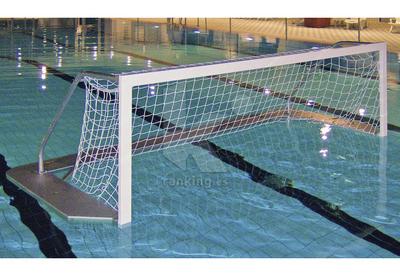 Redes Waterpolo Nylon trenzado malla 100 Blanco 0,60 x 0,60 m.. Juego