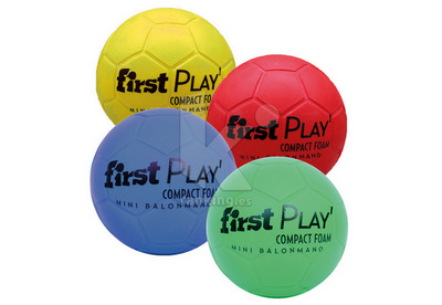 Balon Mini-Balonmano FIRST PLAY Compact Foam. Set 4 Uds. 1 x color