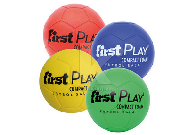 Balon Futbol Sala FIRST PLAY Compact Foam. Set 4 Uds. 1 x color