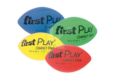 Balon Rugby T-3 FIRST PLAY Compact Foam. Set 4 Uds. 1 x color