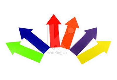 Marcas de suelo: Flechas de direccion rectas - Set 6 uds.