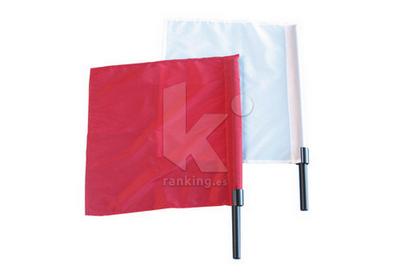 Juego banderas juez Atletismo. Blanca y Roja. Par