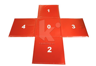 Colchoneta de salto en cruz 150 x 150 x 0,7 cm
