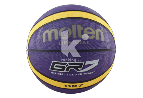 Balon Baloncesto Molten BGR7-VY - Morado/Amarillo Talla 7