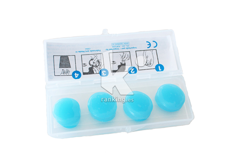 Tapones oido silicona. Pack 4 uds.