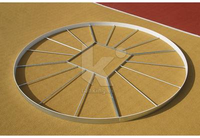Circulo lanzamiento POLANIK, disco reforzado, en Acero Galvanizado IAAF