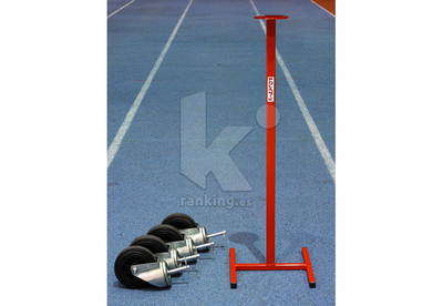 Ruedas y soporte para traslado vallas obstáculos 4 ruedas, 1 soporte - POLANIK