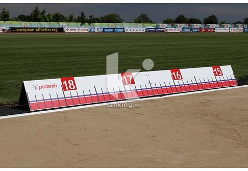 Indicador de referencia en distancia de aluminio ajustable de Salto de Longitud y Triple POLANIK.