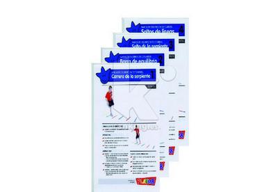 Set 8 Fichas actividades con Marcas de carrera y salto