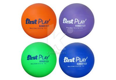 Balón Baloncesto FIRST PLAY Rubber Flex T 5 Set 4 Uds. , 1 x color
