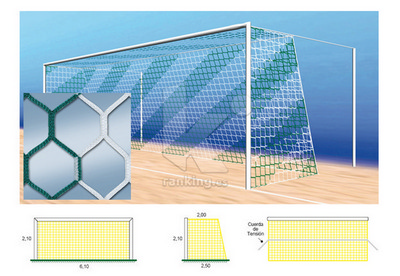 Red F7 PPM S/N 4 mm. M120 Hexagonal 2x2,50 Juego 2 uds. Bicolor