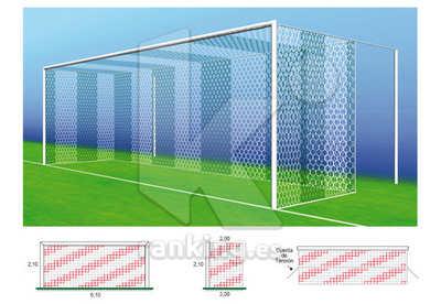 Red F7 Poliester 3,5mm. M120 2x2 Juego 2 uds. Blanco
