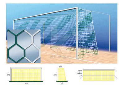 Red F7 PPM S/N 4 mm. M50 Hexagonal 0,80x1,50 Juego 2 uds. Bicolor