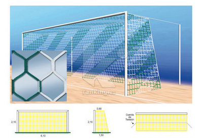 Red F7 PPM S/N 4 mm. M120 Hexagonal 0,80x1,50 Juego 2 uds. Bicolor