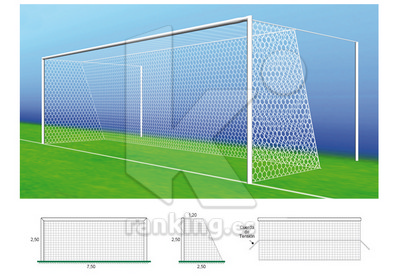Red F11 Poliester 3,5mm. M100 1.20x2,50 Juego 2 uds. Blanco