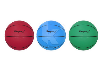 Balon Baloncesto NICE GAME Soft - Talla 5, Set 6 Uds.  2 x color