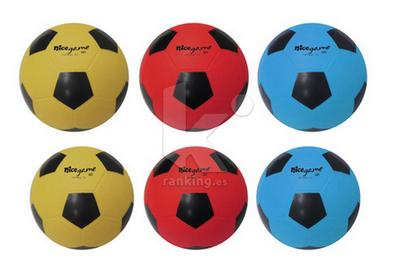 Balon Futbol NICE GAME Soft - Talla 5. Set 6 Uds.  2 x color