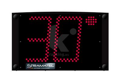 Marcador Independiente ECO 30 Waterpolo, 2 módulos. Transmisión por cable.