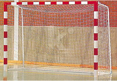 Jgo. Porterías Fútbol-Sala / Balonmano Madera 8 x 8 cm. Arquillo vertical