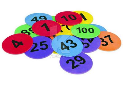 Marcas de suelo. Numeradas del 1 al 25. Set 25 Uds.